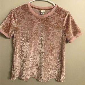 A new day velvet printed shirt